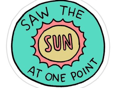 Freelance Achievement Stickers - saw the sun at one point